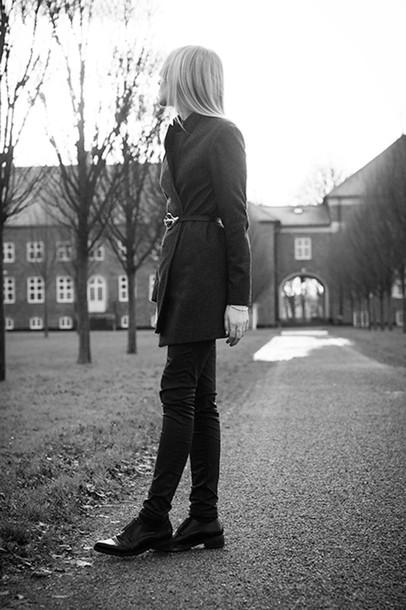 chaloth blogger jacket belt pants oxfords shoes
