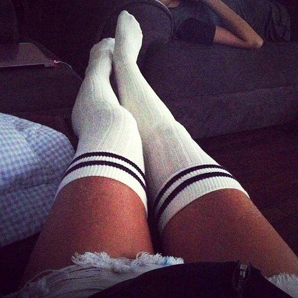 Knee High Soccer Socks - Knee Deep Denim