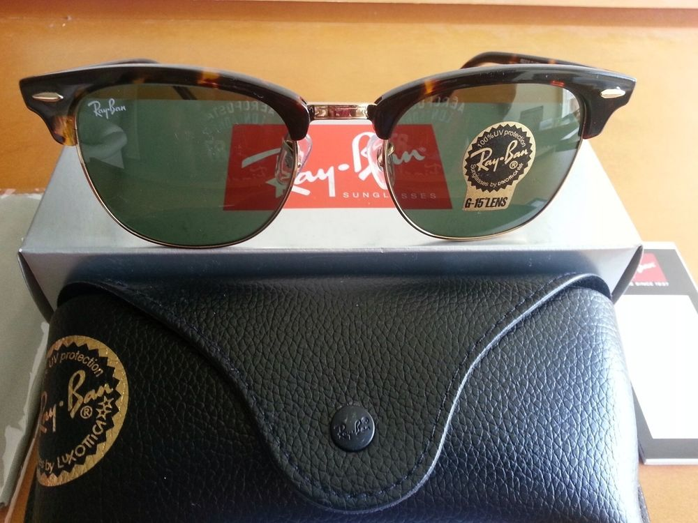 0580a57787a59a Brand New Ray Ban Clubmaster RB3016 W0366 Tortoise Gold 51mm | eBay