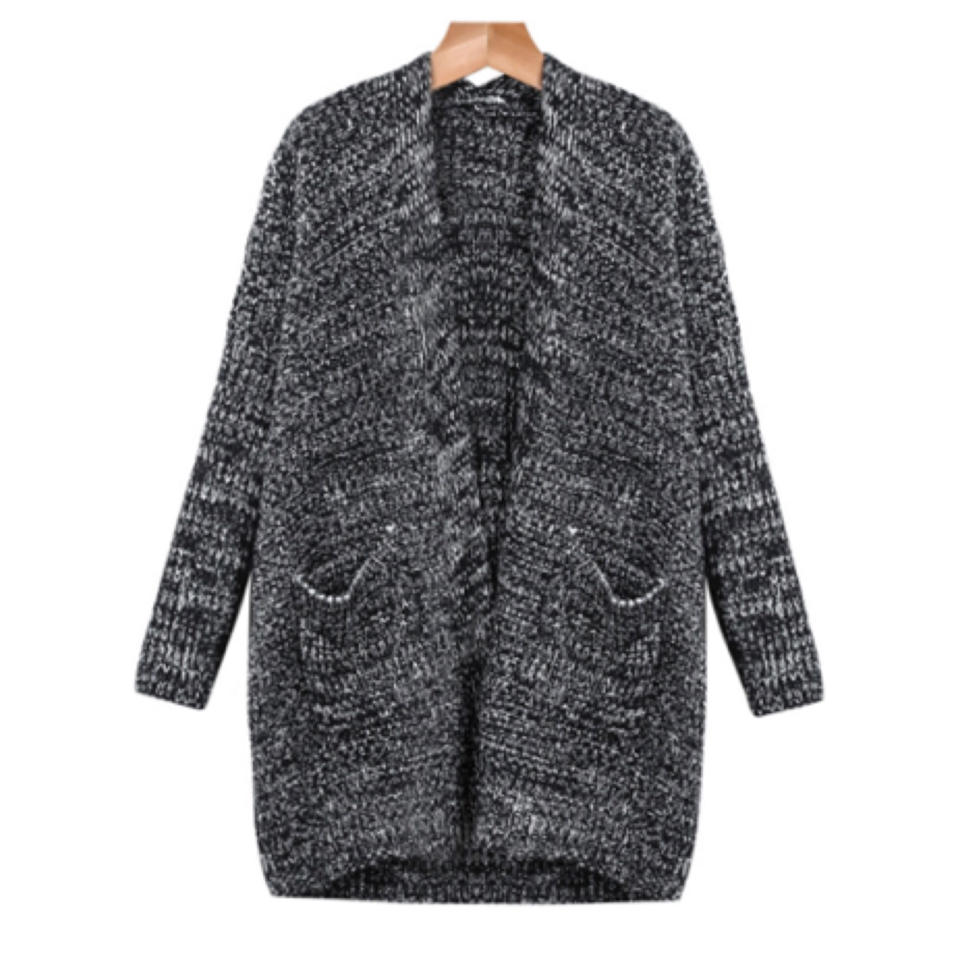 Knitted oversized cardigan with pockets