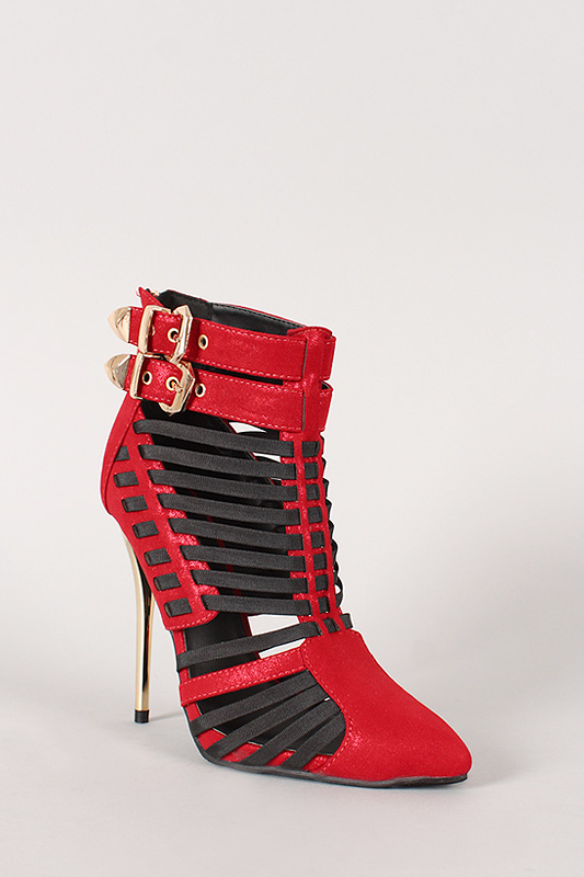 Wild Rose Wilson-02 Strappy Stiletto Bootie