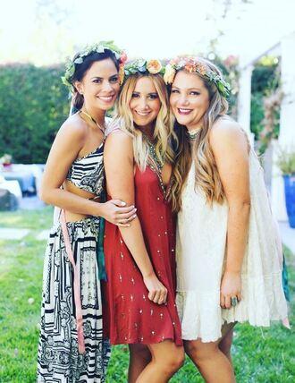 dress ashley tisdale summer summer dress summer outfits instagram rust boho dress