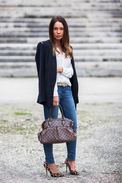 cashmere in style jacket jeans blouse belt shoes bag