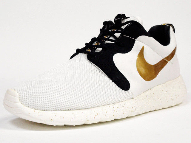 newest collection aa3e2 3c928 2014NIKE MEN ROSHE RUN HYP PREMIUM QS Trophy Gold 669689-100 White rosherun