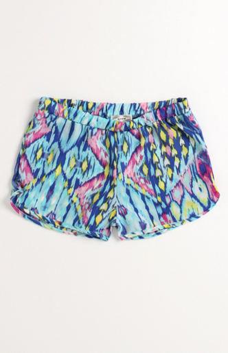 Kirra dolphin hem challis shorts at pacsun.com on wanelo