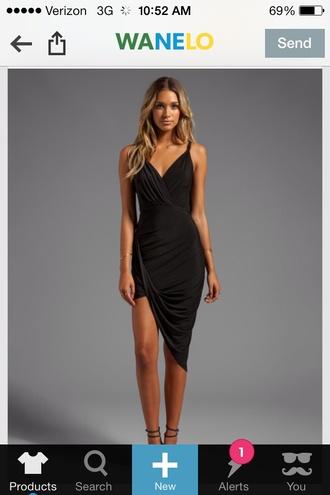 high low dress little black dress asymmetrical