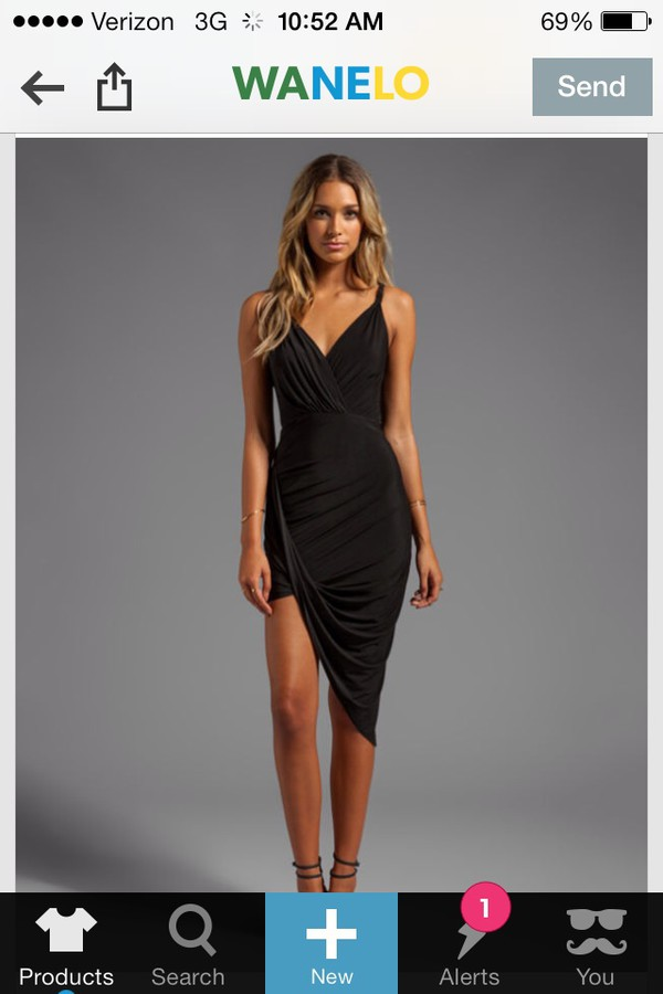 high low dress black dress asymmetrical dress