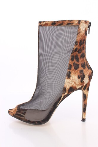 shoes booties sexy fashion boots fall booties fall boots leaopard leopard boots peep toe boots