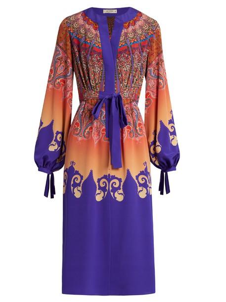 ETRO dress print silk paisley