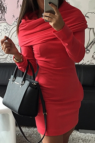 dress red orange neon winter outfits winter dress zaful instagram beautiful style pretty trendy