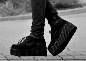 tumblr grunge hipster black punk creepers grunge shoes