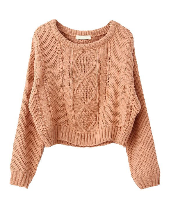 5b8cb52d198 Cable Knit Cropped Sweater