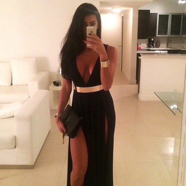 dress black tumblr