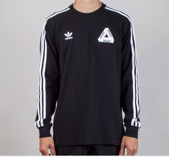 sweater black jumper palace adidas wavy menswear t-shirt