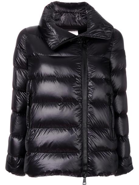 moncler jacket women black wool