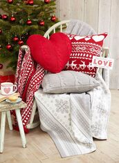 home accessory,christmas,tumblr,holiday home decor,home decor,chair,pillow,knitted pillow,christmas home decor