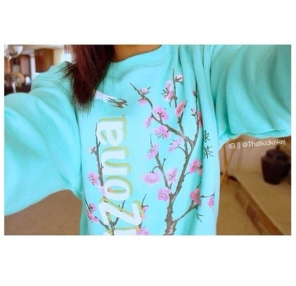 sweater jumper blue arizona pull over turquoise