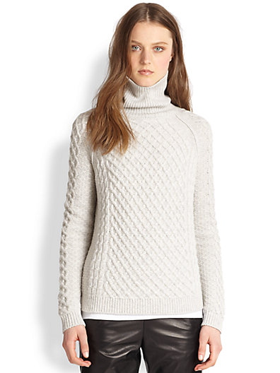 Vince - Cable-Knit Turtleneck Sweater - Saks.com