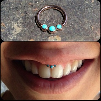 jewels smiley piercing turquoise silver piercing