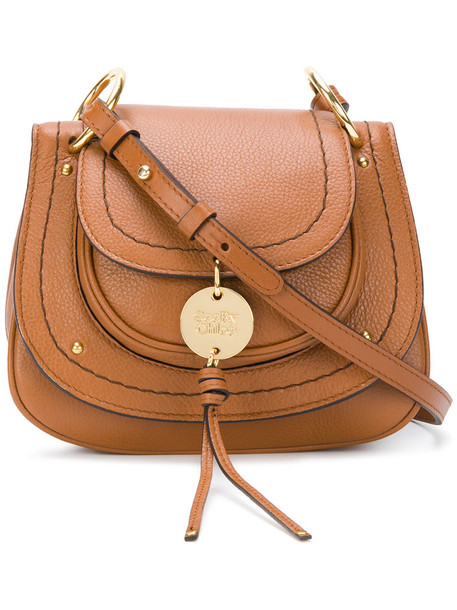 See by Chloe cross women bag leather cotton brown