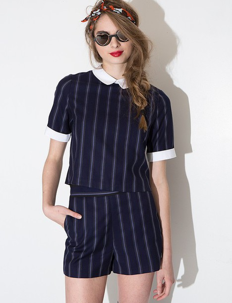 Dress Matching Set Stripes Pinstripe Trendy Cute Outfits Matching Seperates Matching Set ...