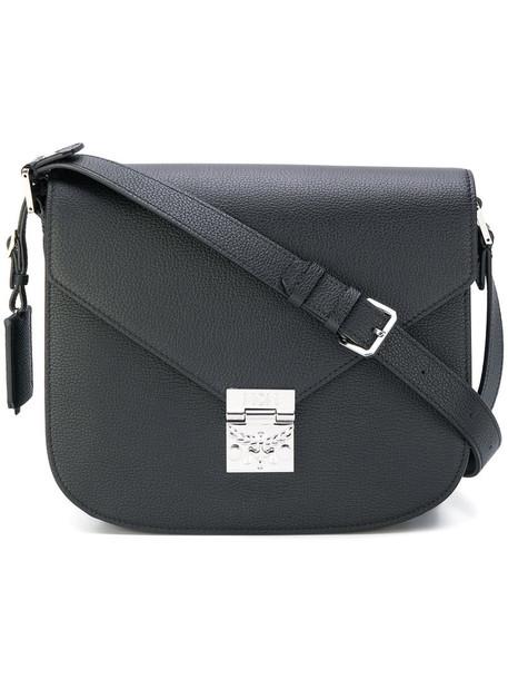 MCM women bag shoulder bag leather black
