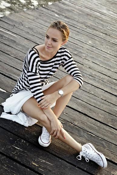 shoes stripes blogger bonsoir cherie jewels top