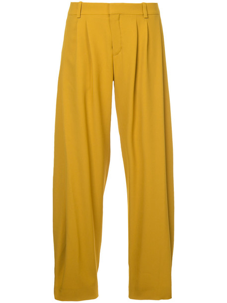 Chloe women silk yellow orange pants