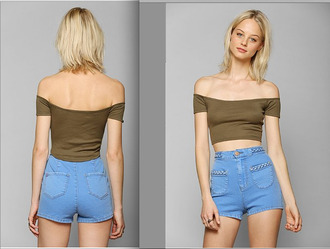 shorts denim denim shorts high waisted high waisted shorts high rise urban outfitters vintage pockets button cute lovely hipster indie socute hella fine shirt