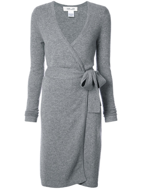 dress wrap dress women grey