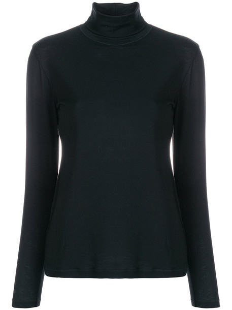 D.Exterior blouse women black top