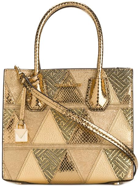 MICHAEL Michael Kors patchwork women grey metallic bag