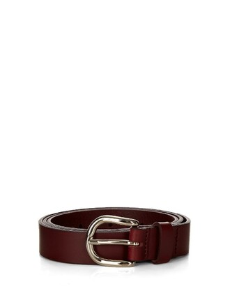 belt leather burgundy