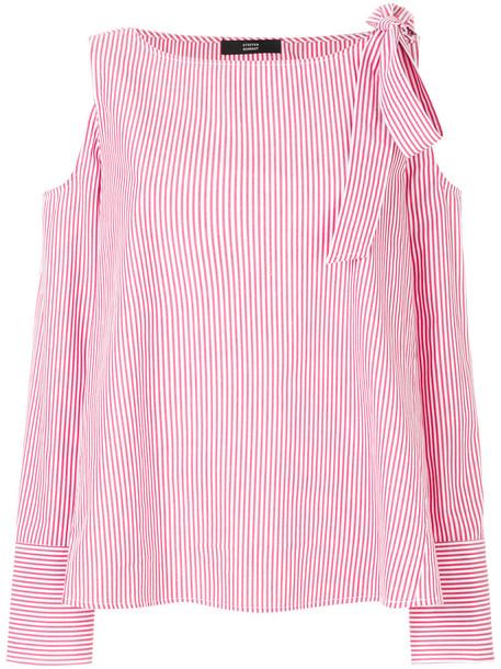 Steffen Schraut shirt women cold cotton red top