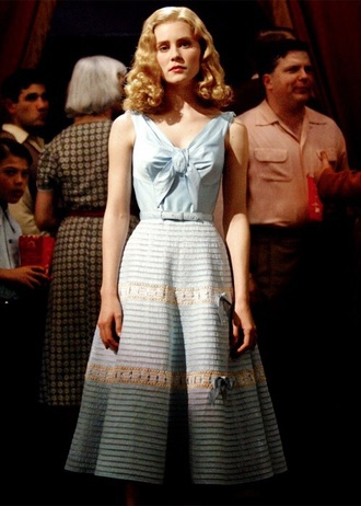dress blue dress blue bows bow dress vintage beautiful baby blue classy movies