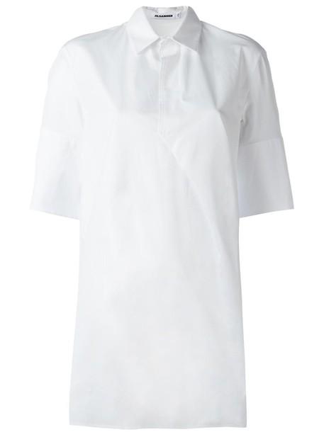 Jil Sander shirt tunic women white cotton top