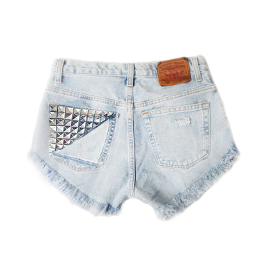 Beach Bum 320 Studded Shorts - Arad Denim