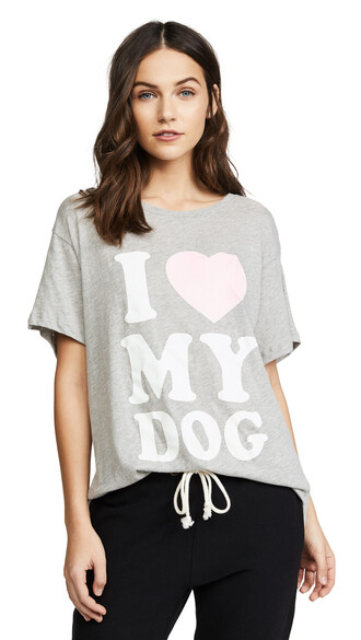 dog love grey heather grey top