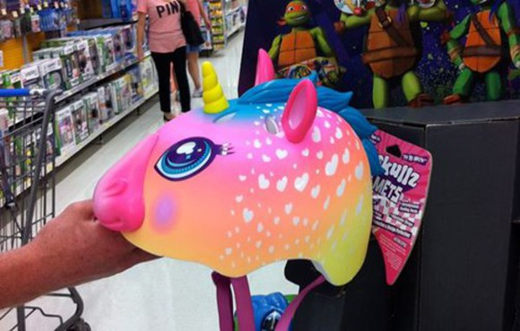 unicorn helmet colorful