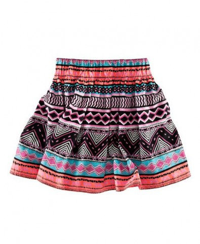 Tribe Print Cotton Skirts with Pleats