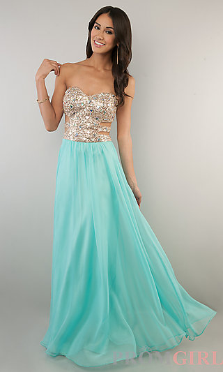 Prom Dresses, Celebrity Dresses, Sexy Evening Gowns - PromGirl: Floor Length Strapless Sweetheart Prom Dress