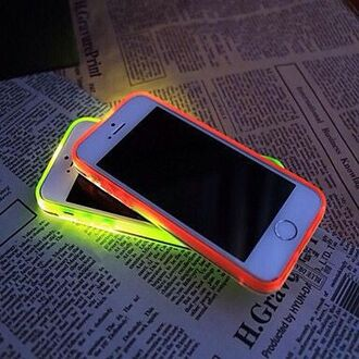 phone cover neon case neon light bright iphone case phone case