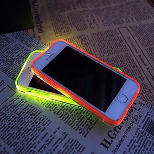 phone cover neon case neon light bright iphone case phone cover