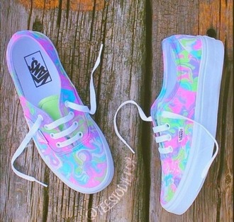 shoes vans rainbow cool sneakers