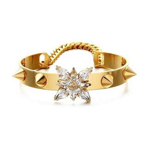 jewels cuff spikes crystal