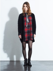 dress,fashion,lookbook,tartan,claudie pierlot,sweater