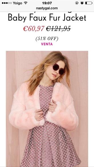 coat jacket pink fur cardigan fluffy fuzzy coat faux fur faux fur jacket