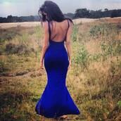 dress,royal blue