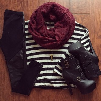 black pants trousers shoes fall outfits scarf