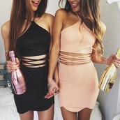 black dress,pink dress,blush pink,cut-out dress,mini dress,peach,dress,halter dress,party dress,club dress,sexy dress,summer dress,summer outfits,bodycon dress,nude dress,white,white dress,black,cute,party,outfit,night dress,dresses evening,high-low dresses,pink,pretty,cut-out,sleeveless,instagram,light pink,short dress,sleeveless dress,light pink dress,nude,strappy,pink dress and black dress,pink or black,halter neck,scallops,tumblr outfit,tumblr girl,pastel,cross the abdomen,mini,dressofgirl,cute dress,lace up,lace up dress,bodycon,sexy party dresses,sexy,party outfits,sexy outfit,spring dress,spring outfits,pool party,classy dress,elegant dress,cocktail dress,girly dress,date outfit,birthday dress,clubwear,homecoming,homecoming dress,wedding clothes,wedding guest,engagement party dress,prom,prom dress,short prom dress,black prom dress,romantic dress,romantic summer dress,summer holidays,holiday dress,chiffon,pale,chiffon dress